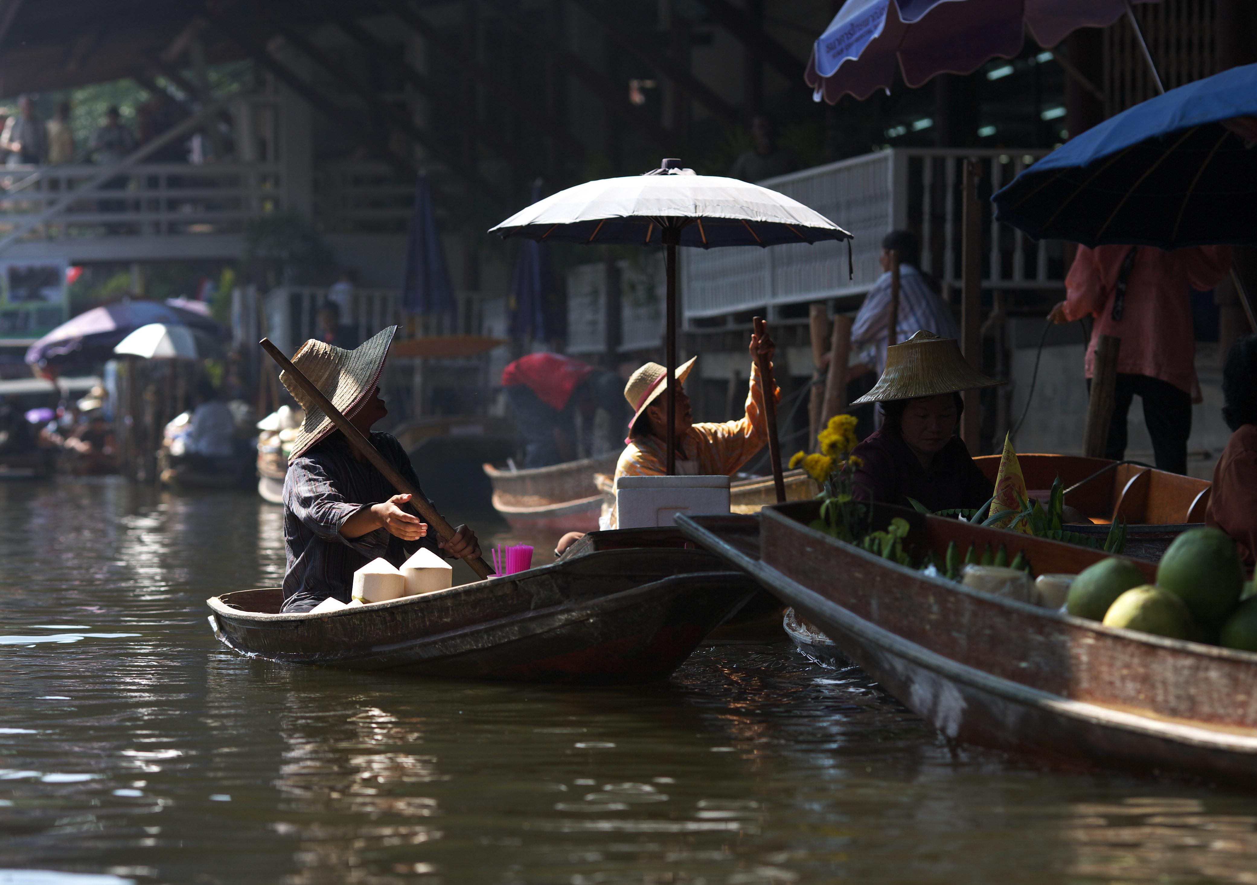 fotografia, materiale, libero il panorama, dipinga, fotografia di scorta,Cocco che vende di mercato di acqua, mercato, Comprando e vendendo, barca,