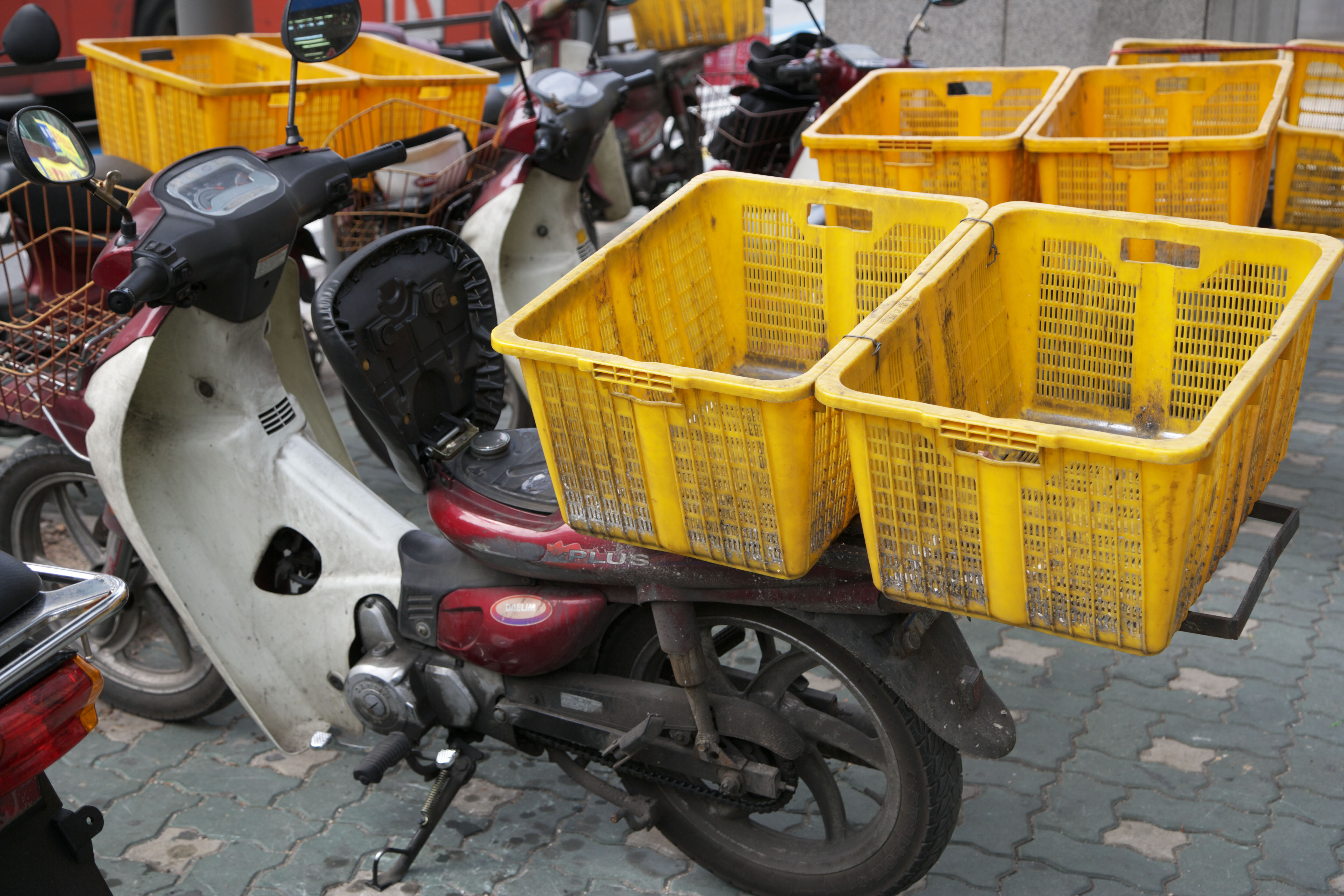 photo,material,free,landscape,picture,stock photo,Creative Commons,The energy that I put in the carrier, motorcycle, , Delivery,