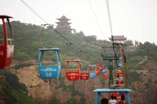photo,material,free,landscape,picture,stock photo,Creative Commons,Aikai bower, ropeway, lofty building, Chinese food, sightseeing spot