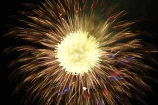 photo,material,free,landscape,picture,stock photo,Creative Commons,Tama River Fireworks Display, Launching fireworks, natural scene or object which adds poetic charm to the season of the summer, Signal fire, Brightness