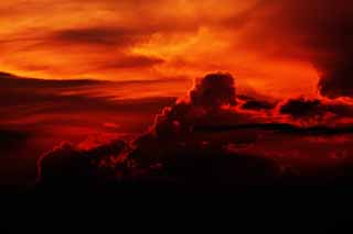photo,material,free,landscape,picture,stock photo,Creative Commons,The sunset clouds, cloud, At dark, I am crimson, Brightness