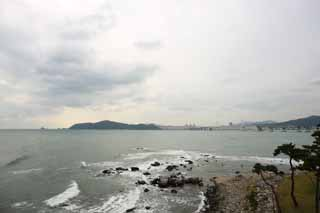photo,material,free,landscape,picture,stock photo,Creative Commons,The sea of Pusan, Guangan Ohashi, sandy beach, building, The sea