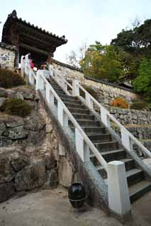 photo,material,free,landscape,picture,stock photo,Creative Commons,Buddha's land temple Kannon, Chaitya, Faith, Buddhism, stone stairway