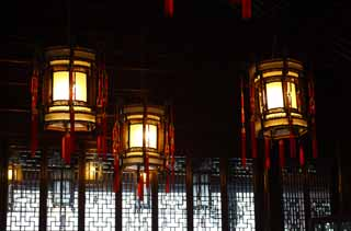 photo,material,free,landscape,picture,stock photo,Creative Commons,A YuGarden garden lantern, Illumination, Culture, Chinese food style, Chinese building