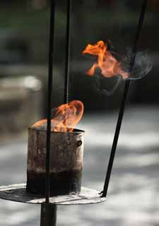 photo,material,free,landscape,picture,stock photo,Creative Commons,Hangzhou Lingying Temple, Buddhism, An incense holder, Flame, Smoke