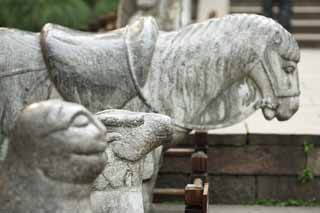 photo,material,free,landscape,picture,stock photo,Creative Commons,Yue Fei Temple, , horse, grave, Front of the grave
