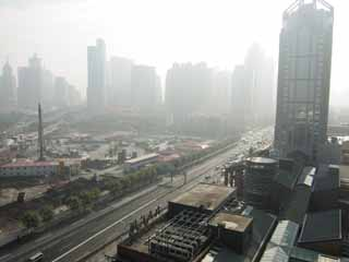 photo,material,free,landscape,picture,stock photo,Creative Commons,The Ura east, high-rise building, Smog, road, shopping center