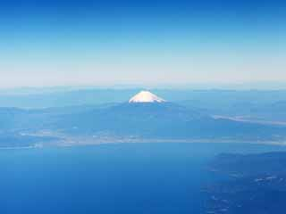 photo,material,free,landscape,picture,stock photo,Creative Commons,Mt. Fuji, Gulf of Suruga, Mt. Fuji, Snowcap, Izu Peninsula