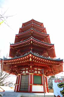 photo,material,free,landscape,picture,stock photo,Creative Commons,Kawasakidaishi octagon Five Storeyed Pagoda, Buddhism, middle interest tower, Buddhism architecture, I am painted in red