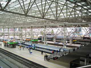 photo,material,free,landscape,picture,stock photo,Creative Commons,Seoul Station, Glass, platform, station, railroad