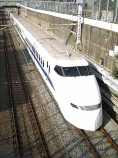 photo,material,free,landscape,picture,stock photo,Creative Commons,The Tokaido Shinkansen, The Shinkansen, 300 system, An echo, track