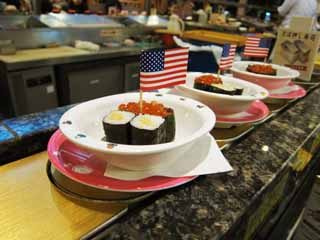 photo,material,free,landscape,picture,stock photo,Creative Commons,Belt-conveyor sushi, The Star-Spangled Banner, How much, I wind up fermented soybeans, I wind up a warship