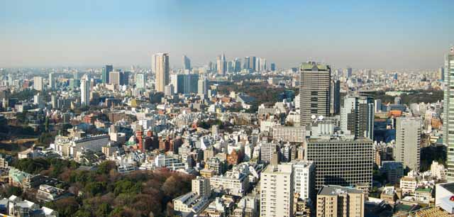 photo,material,free,landscape,picture,stock photo,Creative Commons,Tokyo panorama, building, Shinjuku, An apartment, TBS