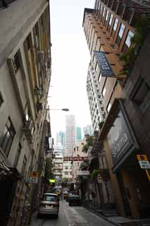photo,material,free,landscape,picture,stock photo,Creative Commons,According to Hong Kong, shopping district, signboard, building, slope