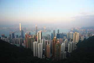 photo,material,free,landscape,picture,stock photo,Creative Commons,A skyscraper, Victoria peak, Mt. Taihei, Hong Kong Island, Nine dragons