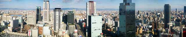 photo,material,free,landscape,picture,stock photo,Creative Commons,Osaka panorama, high-rise building, track, The Hanshin Expressway, high-rise apartment