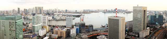 photo,material,free,landscape,picture,stock photo,Creative Commons,Tokyo panorama, building, The downtown area, Toyosu, Odaiba