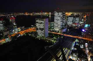 photo,material,free,landscape,picture,stock photo,Creative Commons,Tokyo night view, building, The downtown area, Odaiba, The Tokyo Port