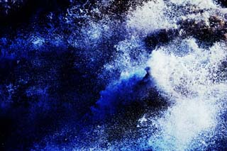 photo,material,free,landscape,picture,stock photo,Creative Commons,Indigo and white, wave, sea, spray, breaker surf