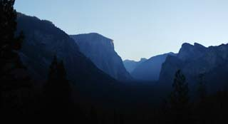 photo,material,free,landscape,picture,stock photo,Creative Commons,Daybreak of yosemite, cliff, The daybreak, valley, Panoramcomposition