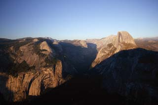 photo,material,free,landscape,picture,stock photo,Creative Commons,Half Dome of evening, At dark, Granite, forest, cliff