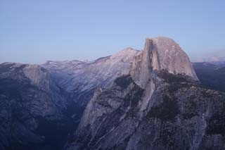 photo,material,free,landscape,picture,stock photo,Creative Commons,Twilight Half Dome, At dark, Granite, forest, cliff