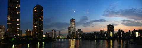 photo,material,free,landscape,picture,stock photo,Creative Commons,A panoramic view of the Sumida River, , , ,