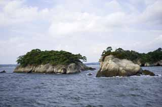 photo,material,free,landscape,picture,stock photo,Creative Commons,Three most beautiful views in Japan Matsushima, island, blue sky, cloud, The sea