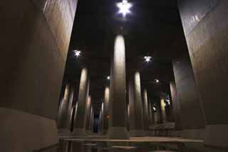 photo,material,free,landscape,picture,stock photo,Creative Commons,A huge underground shrine, Concrete, pillar, reservoir, basement