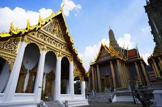 photo,material,free,landscape,picture,stock photo,Creative Commons,Temple of the Emerald Buddha, Gold, Buddha, Temple of the Emerald Buddha, Sightseeing