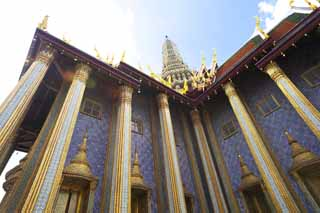 photo,material,free,landscape,picture,stock photo,Creative Commons,Royal Pantheon, Gold, Buddha, Temple of the Emerald Buddha, Sightseeing