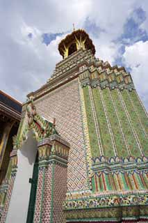 photo,material,free,landscape,picture,stock photo,Creative Commons,Belfry of Temple of the Emerald Buddha, Gold, Buddha, Temple of the Emerald Buddha, Sightseeing