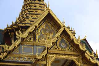 photo,material,free,landscape,picture,stock photo,Creative Commons,Decoration of Chakri Palace, Gold, Buddha, The royal palace, Sightseeing