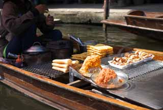 photo,material,free,landscape,picture,stock photo,Creative Commons,A waffle of water market, market, Buying and selling, boat,