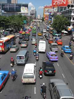 photo,material,free,landscape,picture,stock photo,Creative Commons,Bangkok road, car, motorcycle, road, Asphalt