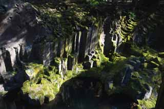 photo,material,free,landscape,picture,stock photo,Creative Commons,Takachiho-kyo Gorge, Ravine, Backlight, cliff, natural monument