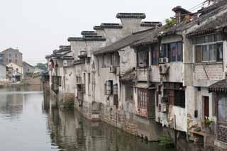 photo,material,free,landscape,picture,stock photo,Creative Commons,A house of Suzhou, window, canal, waterside, house