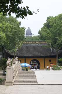 photo,material,free,landscape,picture,stock photo,Creative Commons,The entrance of HuQiu, bridge, The gate, tower,