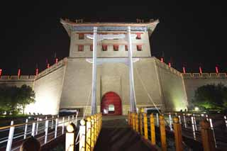 photo,material,free,landscape,picture,stock photo,Creative Commons,The Einei gate, Chang'an, castle gate, brick, The history