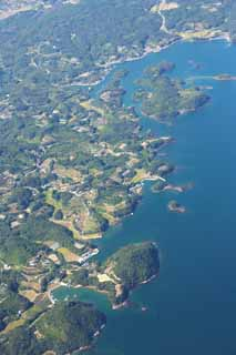 photo,material,free,landscape,picture,stock photo,Creative Commons,A farm village of Nagasaki, The country, mandarin orange, The sea, Aerial photography