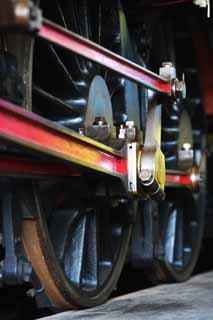 photo,material,free,landscape,picture,stock photo,Creative Commons,Luster of the crank, steam locomotive, train, driving wheel, Iron