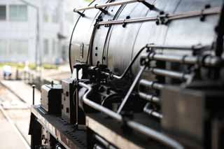 photo,material,free,landscape,picture,stock photo,Creative Commons,I am active throughout the life, steam locomotive, train, driving wheel, Iron