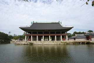 photo,material,free,landscape,picture,stock photo,Creative Commons,Gyeonghoeruof Kyng-bokkung, wooden building, world heritage, Confucianism, bill