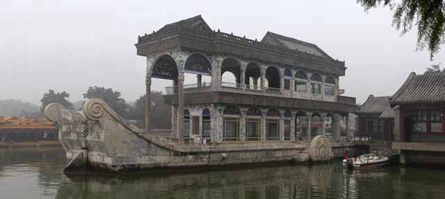 photo,material,free,landscape,picture,stock photo,Creative Commons,Summer Palace of the Qing Yan Fang, Ship, Regal, Building water,