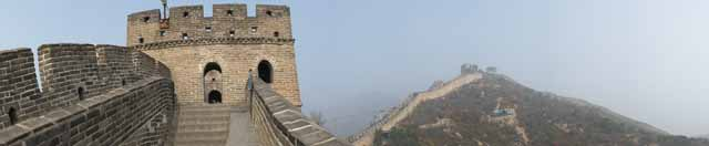 photo,material,free,landscape,picture,stock photo,Creative Commons,Great Wall panorama, Walls, Lou Castle, Xiongnu, Emperor Guangwu of Han
