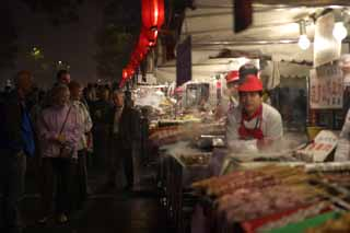 photo,material,free,landscape,picture,stock photo,Creative Commons,Yasushi Azuma Gate Street stalls, Stalls, Food, Food culture, Merchants