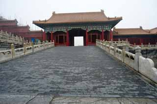 photo,material,free,landscape,picture,stock photo,Creative Commons,Samon in the Forbidden City, The wooden building, , Palace, Aisle