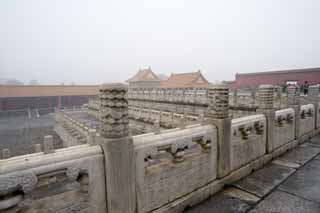 photo,material,free,landscape,picture,stock photo,Creative Commons,Forbidden City, Stone pillar, Fence, Reliefs, Hierarchy