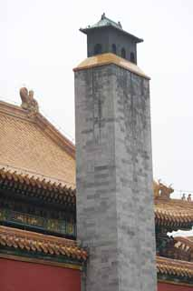 photo,material,free,landscape,picture,stock photo,Creative Commons,Forbidden City chimney, Chimney, Heating, Smoke, World Heritage