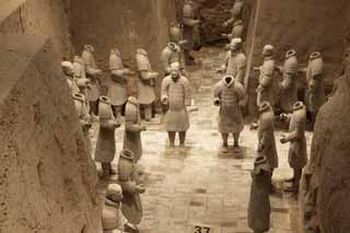 photo,material,free,landscape,picture,stock photo,Creative Commons,Terracotta Warriors in Pit No.3, Terra Cotta Warriors, Ancient people, Tomb, World Heritage
